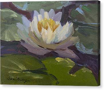 Water Lily 1 Canvas Print by Diane McClary