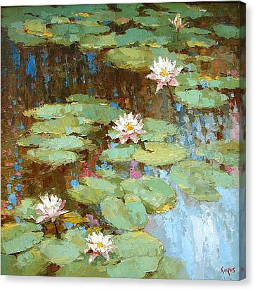 Water Lily Canvas Print by Dmitry Spiros
