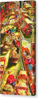 Water Market Canvas Print by Mo T