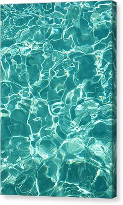Water Meditation I. Five Elements. Healing With Feng Shui And Color Therapy In Interior Design Canvas Print by Jenny Rainbow