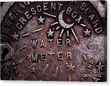 Water Meter Canvas Print by John Rizzuto