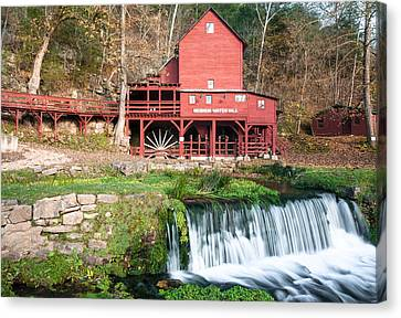 Water Mill In Missouri Canvas Print by Gregory Ballos
