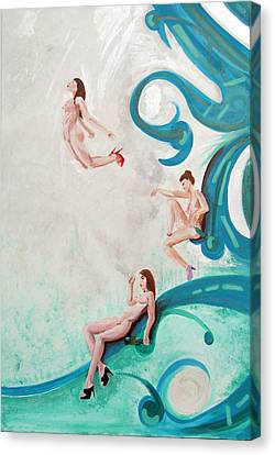 Water Nymphs Canvas Print by Lorinda Fore and Tony Lima
