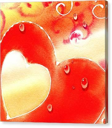 Water On Color Design Three Canvas Print by Irina Sztukowski