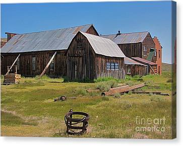 Water Pail - Bodie Canvas Print by Amy Fearn