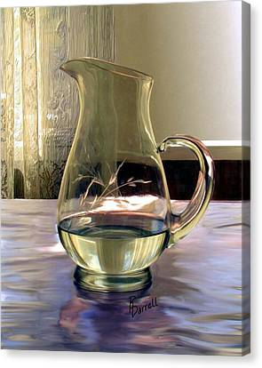 Water Pitcher Canvas Print by Ric Darrell
