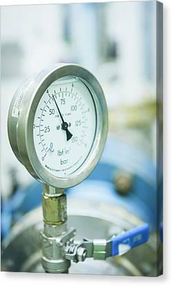 Water Pressure Gauge Canvas Print by Gustoimages