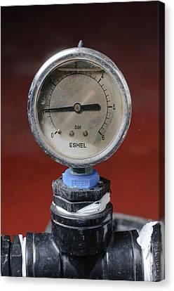 Water Pressure Gauge Canvas Print