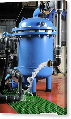 Water Purification System Canvas Print by Photostock-israel