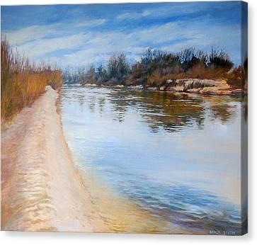 Water Reflection Canvas Print by Nancy Stutes
