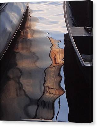 Water Reflections Abstract Canvas Print by Carol Berning