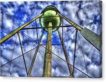 Mary Leila Cotton Mill Water Tower Art  Canvas Print by Reid Callaway