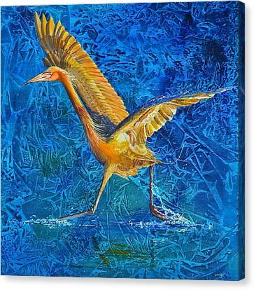 Water Run Canvas Print by AnnaJo Vahle