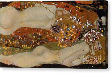 Figures Canvas Print - Water Serpents II by Gustav Klimt