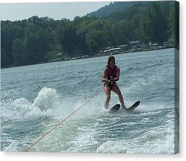 Water Skiing Is Fun Canvas Print