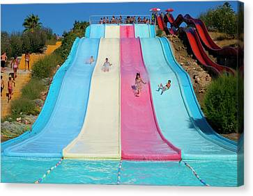 Water Slide Canvas Print