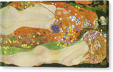 Water Snakes II By Gustave Klimt Canvas Print