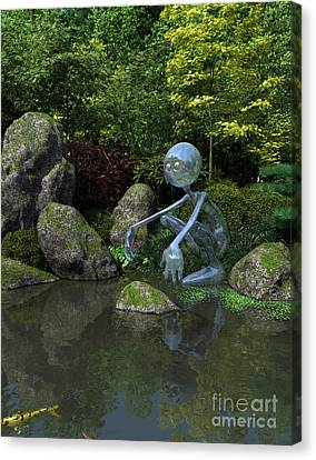 Water Spirit Canvas Print by Fairy Fantasies