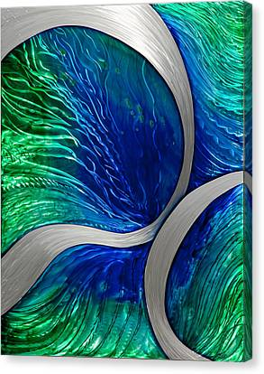 Water Spout Canvas Print by Rick Roth