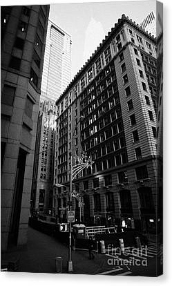 Water Street Entrance To Wall Street Junction Financial District New York City Canvas Print by Joe Fox