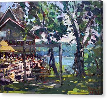 Water Street Landing Restaurant In Lewiston Canvas Print