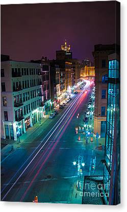 Water Street Zip Canvas Print by Andrew Slater