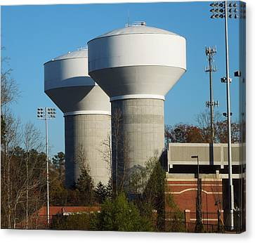 Water Tanks Canvas Print by Pete Trenholm