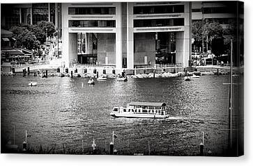 Water Taxi Canvas Print by Toni Martsoukos