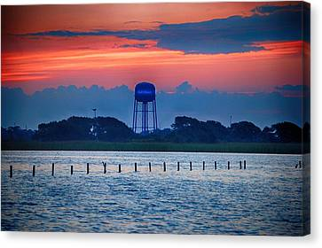 Water Tower Canvas Print by Michael Thomas