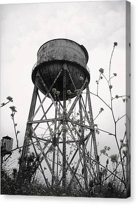 Water Tower Canvas Print by Michael Grubb