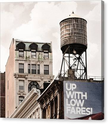 Water Towers 14 - New York City Canvas Print by Gary Heller