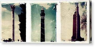 Water Towers St. Louis Canvas Print by Jane Linders