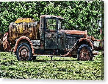 Water Truck Canvas Print by Ron Roberts