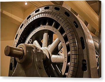 Water Turbine And Generator Canvas Print by Jim West