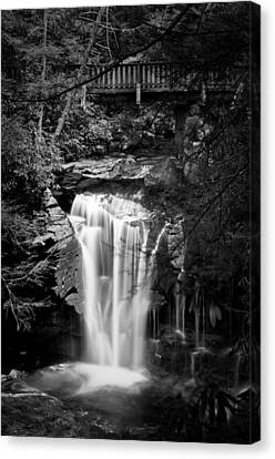 Canvas Print featuring the photograph Water Under The Bridge by Tyson and Kathy Smith