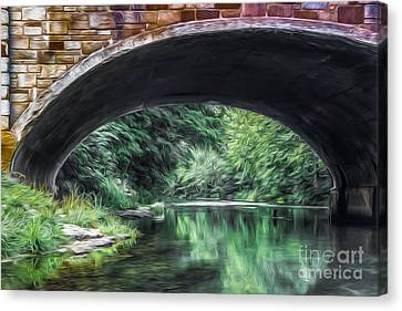 Water Under The Bridge Canvas Print