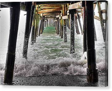 Water Under The Pier Canvas Print by Richard Cheski