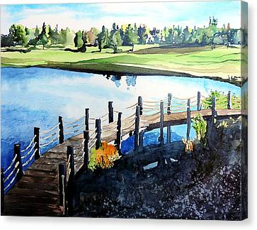 Water Valley Golf Canvas Print