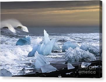 Water Versus Ice Canvas Print by Gunnar Orn Arnason