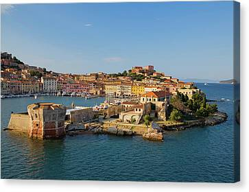 Water View Of Portoferraio, Province Canvas Print