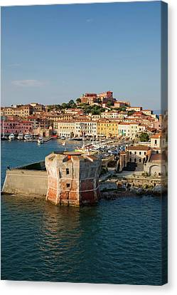 Water View Of Torre Della Linguell Canvas Print
