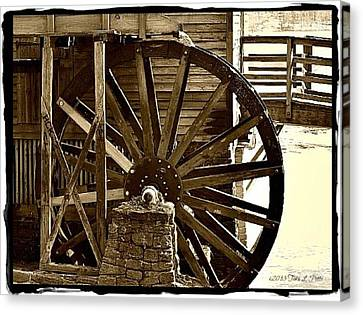 Canvas Print featuring the photograph Water Wheel At The Grist Mill by Tara Potts