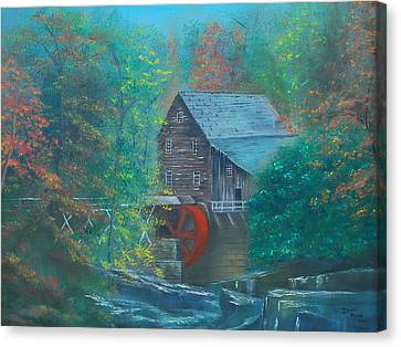 Water Wheel House  Canvas Print
