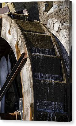Radnor Canvas Print - Water Wheel Mill -  Eastern College by Bill Cannon