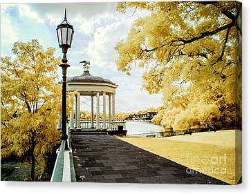 Water Works And Boathouse Row Canvas Print