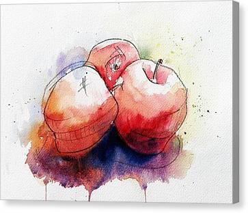 Loose Watercolor Canvas Print - Watercolor Apples by Andrew Fling