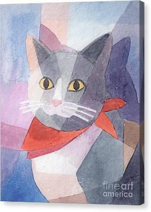 Watercolor Cat Canvas Print by Lutz Baar