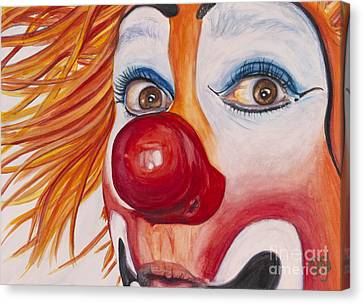 Watercolor Clown #10 Payaso Kiruz Bazo Canvas Print by Patty Vicknair