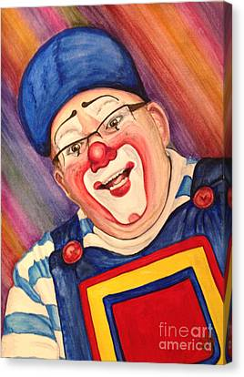 Watercolor Clown #20 Lee Andrews Canvas Print