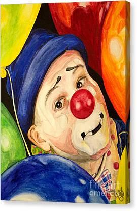 Watercolor Clown #5 Sean Carlock Canvas Print by Patty Vicknair